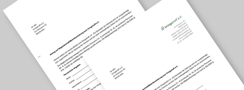 formular für die mitgliedschaft