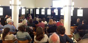 Blick ins Publikum zum Thema Housing First in der Wohnungslosenhilfe, 13.06.19 im Vringstreff